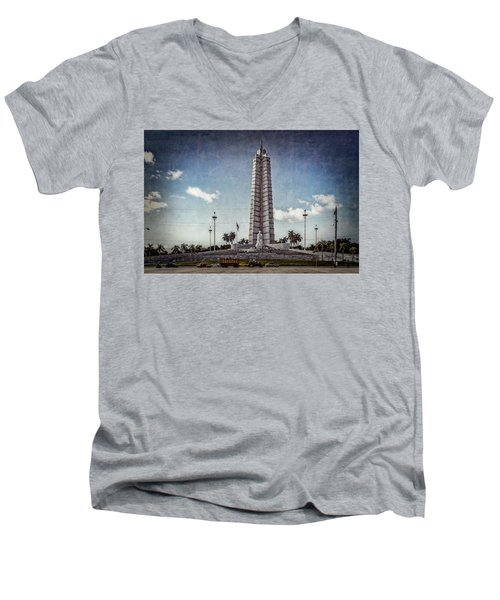 Plaza De La Revolucion Men's V-Neck T-Shirt