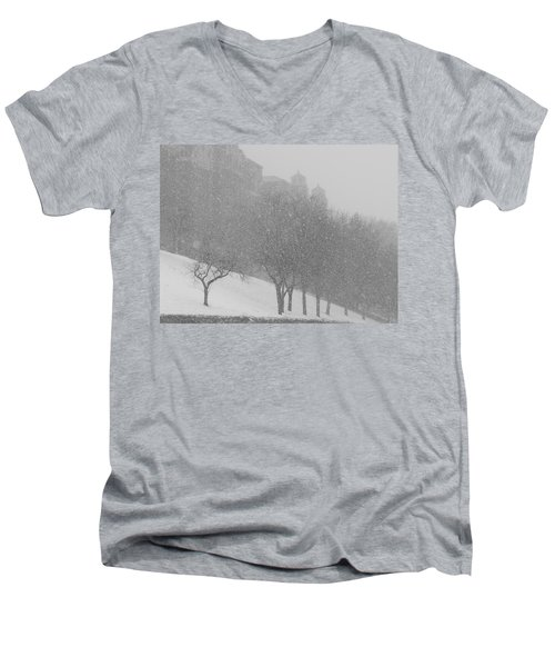 Plaza Impressionism With Kc Snow Men's V-Neck T-Shirt