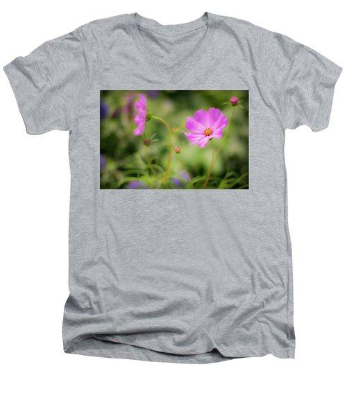 Pleasant Summer Wild Flowers Men's V-Neck T-Shirt