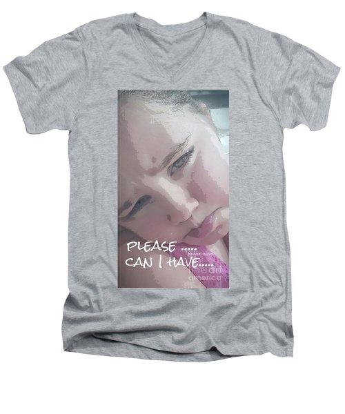 Please Men's V-Neck T-Shirt
