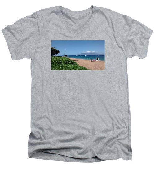 Please Stay Men's V-Neck T-Shirt