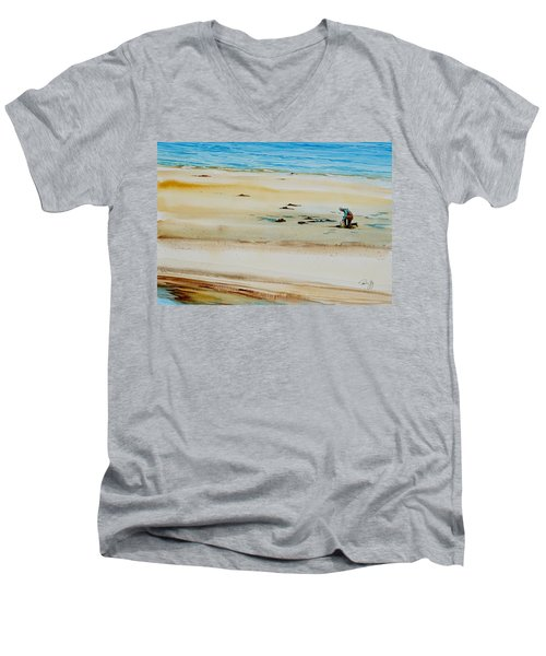 Pleasant Bay Clammer Men's V-Neck T-Shirt