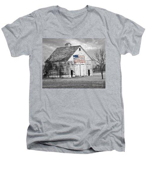 Pledge Of Allegiance Crib Men's V-Neck T-Shirt by Kathy M Krause