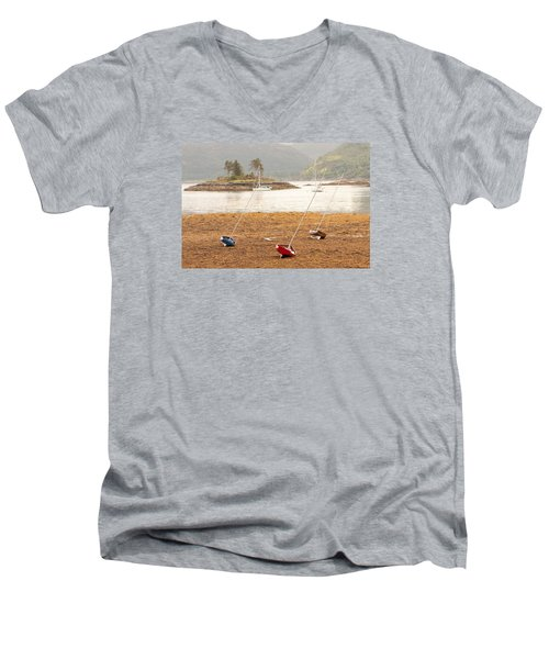 Plockton Sailboats Men's V-Neck T-Shirt