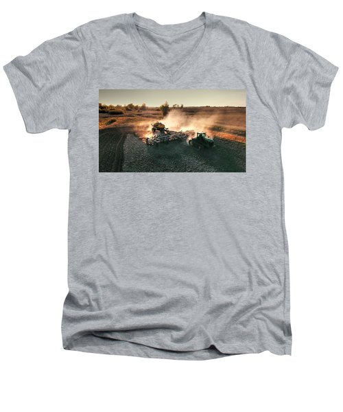 Plow The Fields And Scatter  Men's V-Neck T-Shirt