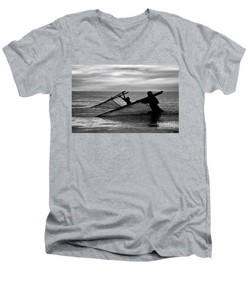Plowing The Sea - Thailand Men's V-Neck T-Shirt