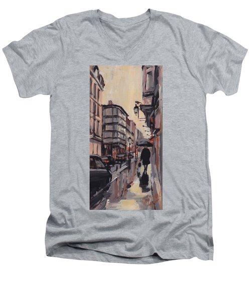 Pluie Rue De Regence Liege Men's V-Neck T-Shirt
