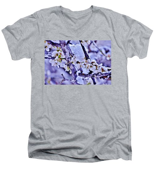 Plum Blossoms In Snow Men's V-Neck T-Shirt