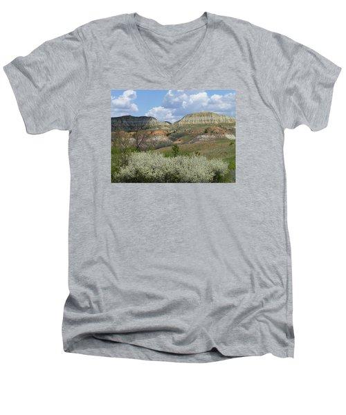 Plum Thicket Near The Burning Coal Vein Men's V-Neck T-Shirt