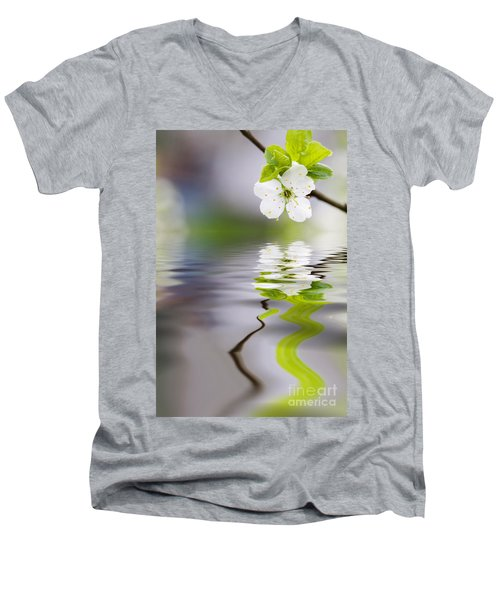 Plum Tree Blooming Men's V-Neck T-Shirt