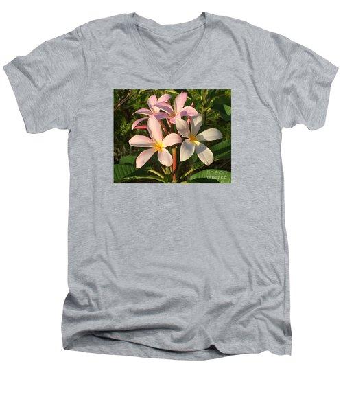 Plumeria Heaven Men's V-Neck T-Shirt by LeeAnn Kendall