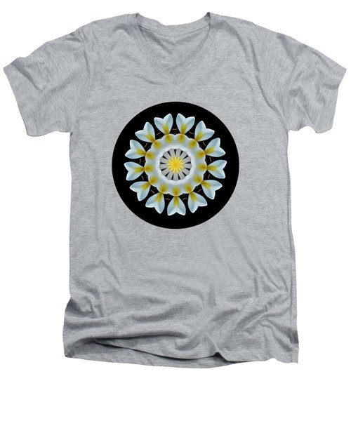 Plumeria Mandala By Kaye Menner Men's V-Neck T-Shirt