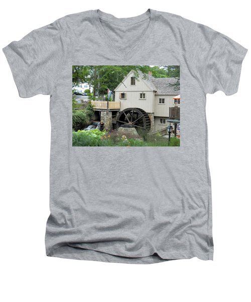 Plymouth Grist Mill Men's V-Neck T-Shirt