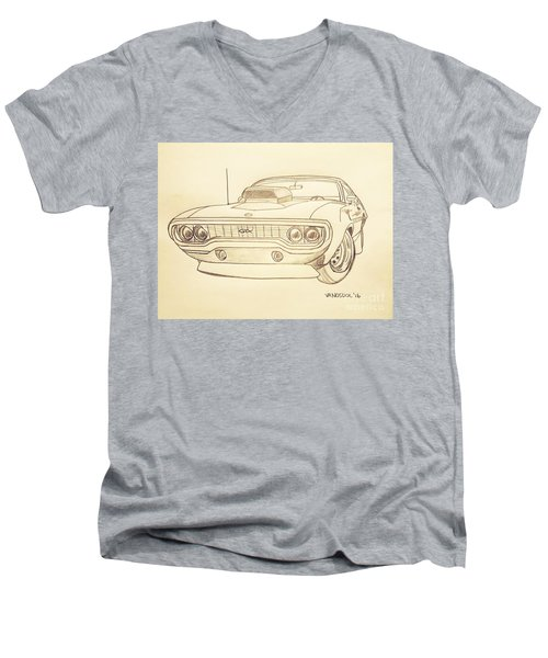 Plymouth Gtx American Muscle Car - Antique  Men's V-Neck T-Shirt