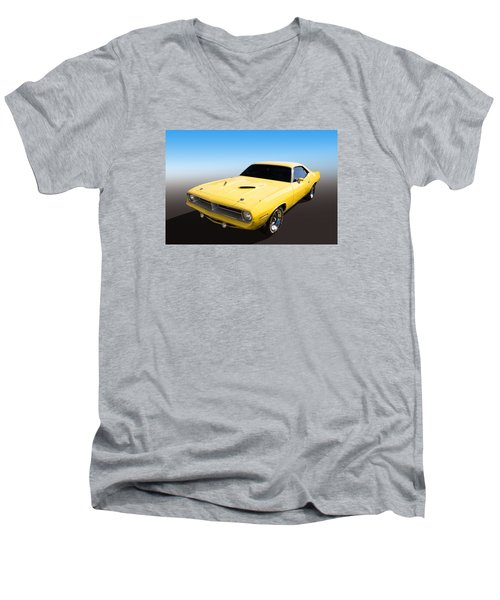 Men's V-Neck T-Shirt featuring the photograph Plymouth Muscle by Keith Hawley