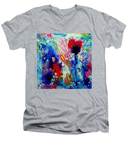 Pocket Full Of Horses 1 Men's V-Neck T-Shirt by Tracy Bonin
