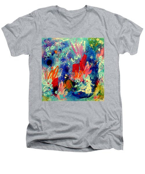 Pocket Full Of Horses 2 Men's V-Neck T-Shirt by Tracy Bonin