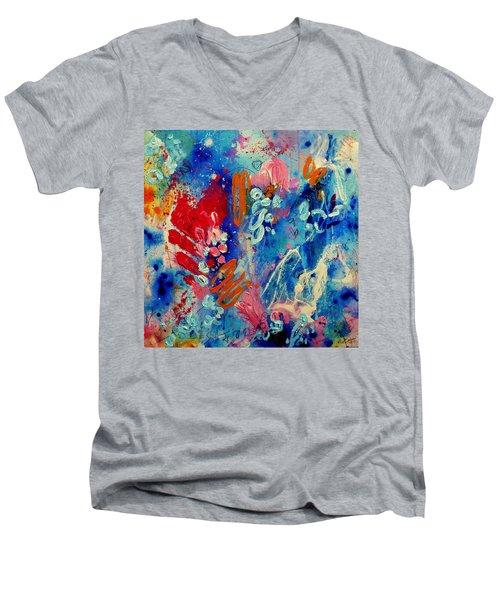 Pocket Full Of Horses 4 Men's V-Neck T-Shirt by Tracy Bonin