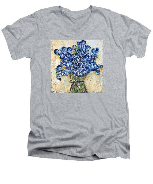 Pocket Full Of Posies Men's V-Neck T-Shirt by Kirsten Reed