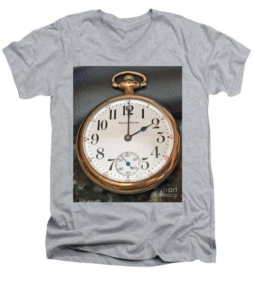 Pocket Watch Men's V-Neck T-Shirt