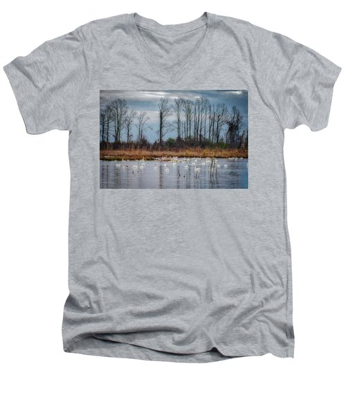 Pocosin Lakes Nwr Men's V-Neck T-Shirt