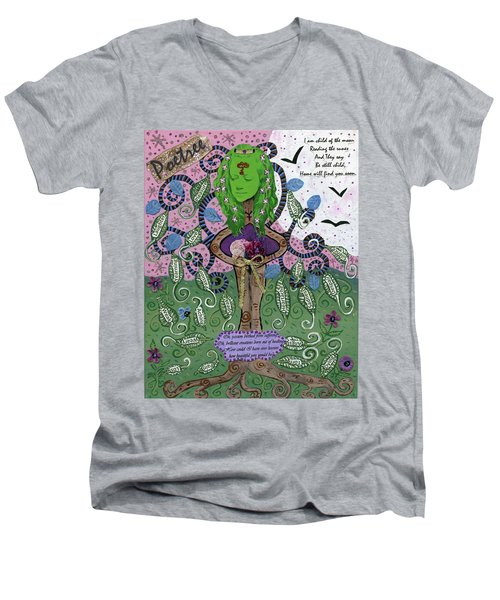 Poetree Men's V-Neck T-Shirt