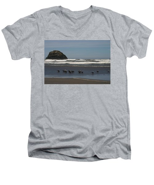 Poetry In Motion Men's V-Neck T-Shirt by Marie Neder