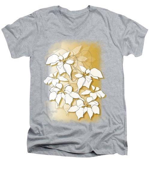 Poinsettias Men's V-Neck T-Shirt