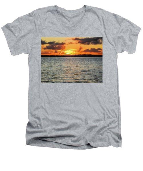 Point Chevalier Beach, Auckland, New Zealand Men's V-Neck T-Shirt