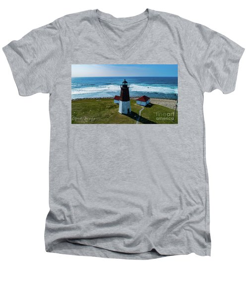 Point Judith Lighthouse Men's V-Neck T-Shirt