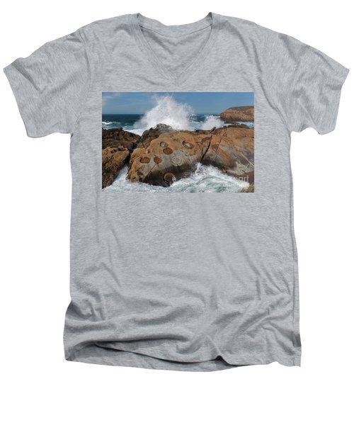 Point Lobos' Concretions Men's V-Neck T-Shirt