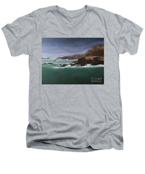 Point Lobos Monterey Men's V-Neck T-Shirt