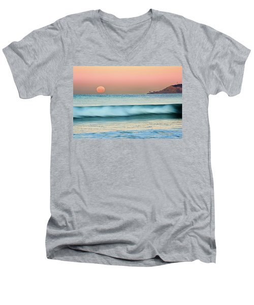 Point Loma Moonset Men's V-Neck T-Shirt