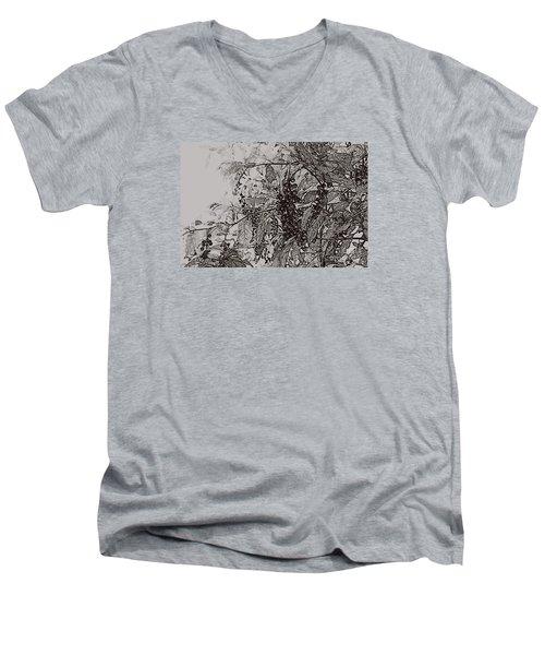 Pokeweed Men's V-Neck T-Shirt by Linda Shafer