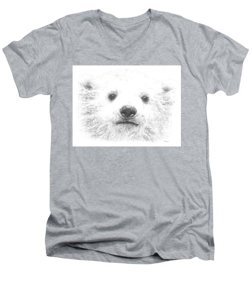 Polar Bear Cub Men's V-Neck T-Shirt