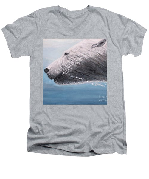 Polar Bear Splash Men's V-Neck T-Shirt