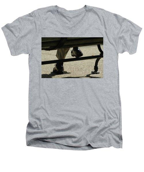 Polished Shoes On Bench Men's V-Neck T-Shirt