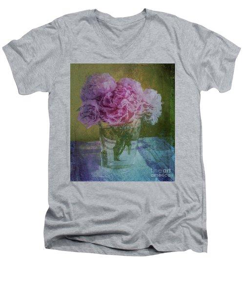 Polite Peonies Men's V-Neck T-Shirt