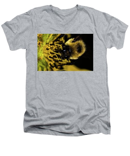 Men's V-Neck T-Shirt featuring the photograph Pollen Collector 2 by Jay Stockhaus