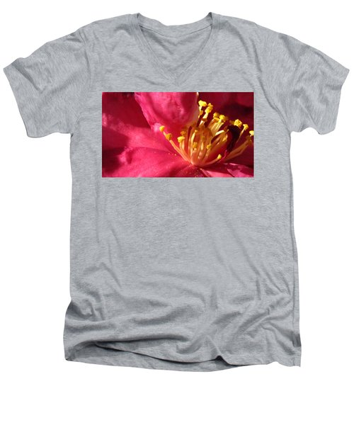 Men's V-Neck T-Shirt featuring the photograph Pollen Pregnant 2 by Robert Knight