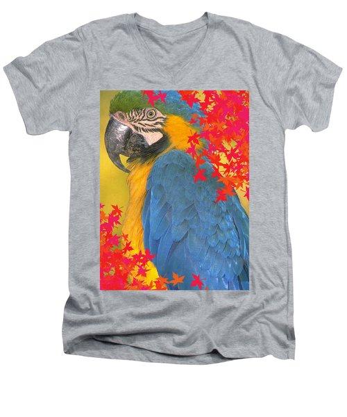 Polly Parrot Men's V-Neck T-Shirt