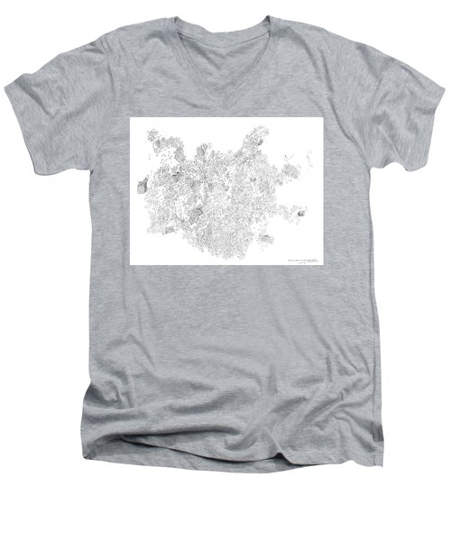 Polymer Crystallization With Modifiers Men's V-Neck T-Shirt