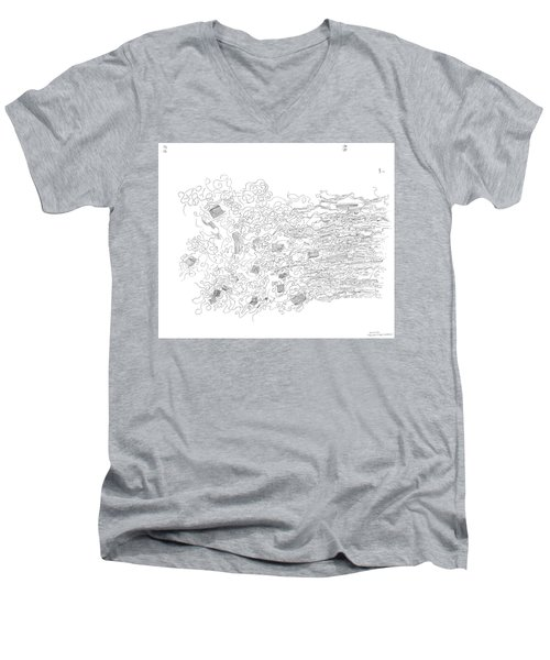 Polymer Fiber Spinning Men's V-Neck T-Shirt