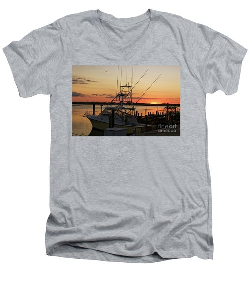 Ponce Inlet Sunset Men's V-Neck T-Shirt