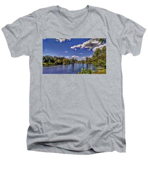Pond At Verona Park Men's V-Neck T-Shirt