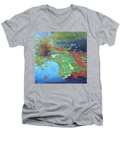 Pond Men's V-Neck T-Shirt by Gary Coleman