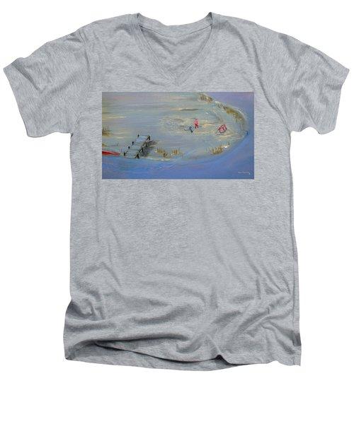 Pond Hockey Men's V-Neck T-Shirt