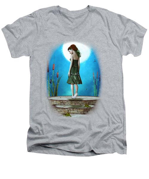 Pond Of Dreams Men's V-Neck T-Shirt by Brandy Thomas