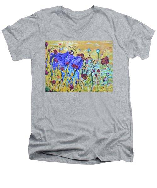 Pond Pansey Men's V-Neck T-Shirt
