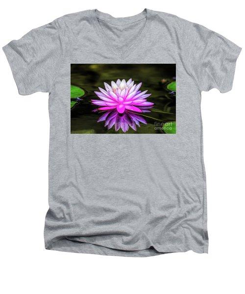 Pond Water Lily Men's V-Neck T-Shirt